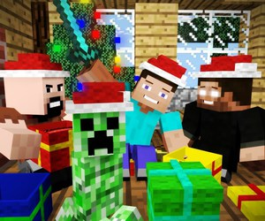 holidays and minecraft image