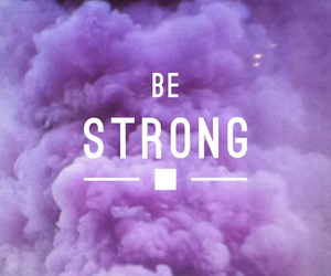 purple, strong, and quote image