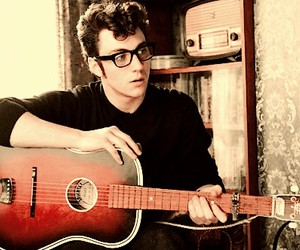aaron johnson, nowhere boy, and guitar image
