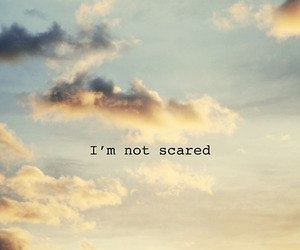 scared, sky, and quote image
