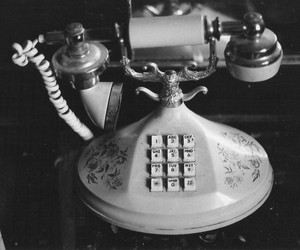 vintage, telephone, and photography image