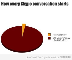 funny, skype, and true image
