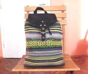 etsy, womens backpack, and boho backpack image