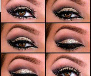 glitter, makeup, and noir image