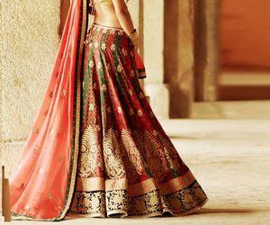 bride, girl, and sari image