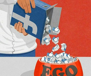ego, facebook, and likes image