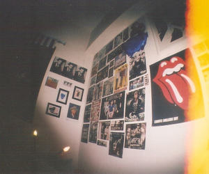 poster, room, and rolling stones image
