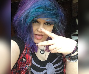 blue, coloured hair, and dyed hair image