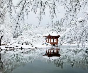 asia, lake, and december image