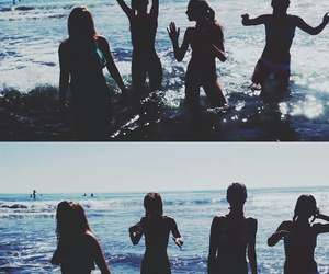 beach, friendship, and holidays image