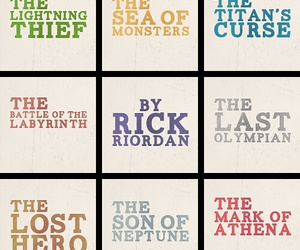 books, percy jackson, and rick riordan image