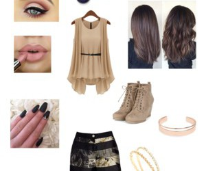 short, accesorios, and uñas image