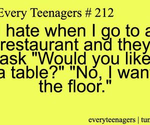funny, quote, and restaurant image