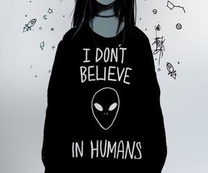 alien, humans, and black image