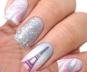 nails, paris, and eiffel tower image