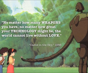 Castle in the Sky, quote, and studio ghibli image
