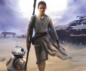 star wars, bb-8, and rey image