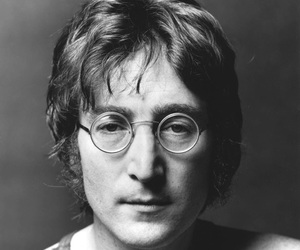 john lennon, black and white, and music image