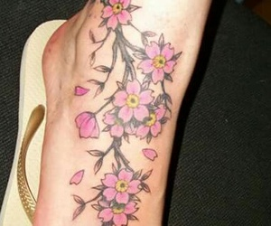 art, flower, and Tattoos image