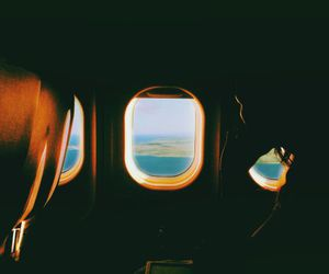 travel, plane, and photography image