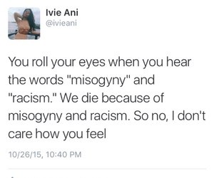 misogyny, racism, and sexism image