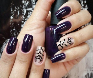 nails, manicure, and art image