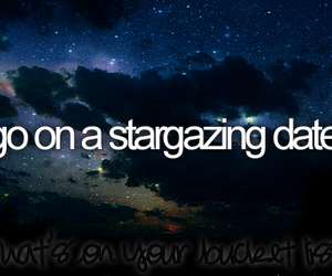 stars, date, and bucket list image