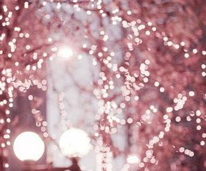 pink, light, and christmas image