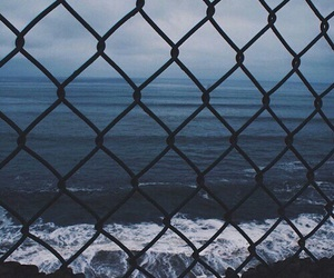 blue, sea, and grunge image