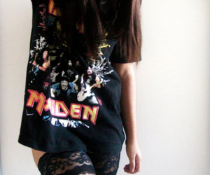 girl, iron maiden, and rock image