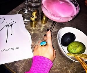 drinks, pink, and gigi image