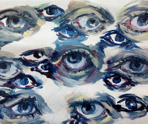 art, eyes, and painting image