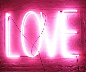 love, pink, and light image