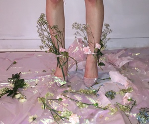 pink, flowers, and tumblr image