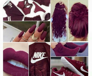 hair, nike, and nails image