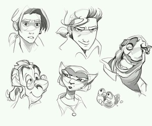 disney, draw, and treasure planet image