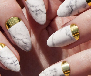 decoration, marble, and nails image