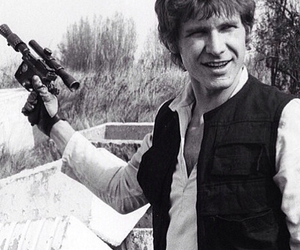 han solo, harrison ford, and star wars image