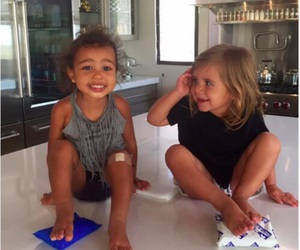north west, baby, and penelope disick image