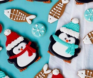 Cookies, penguin, and christmas image