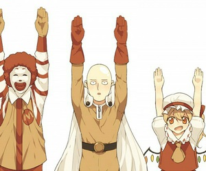 anime and one punch man image