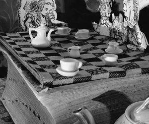 alice in wonderland, fantasy, and tea party image