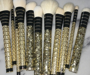 Brushes, makeup, and cosmetics image