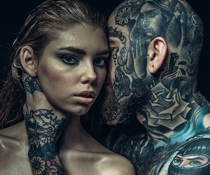 Tattoos, dark beauty magazine, and life in the hood image