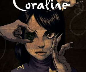 coraline, book, and movie image