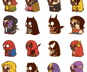 pug, Marvel, and dog image