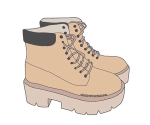timberland, art, and shoes image