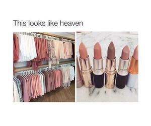 makeup, fashion, and heaven image