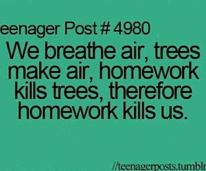 homework, funny, and post image