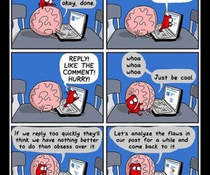 brain, funny, and heart image